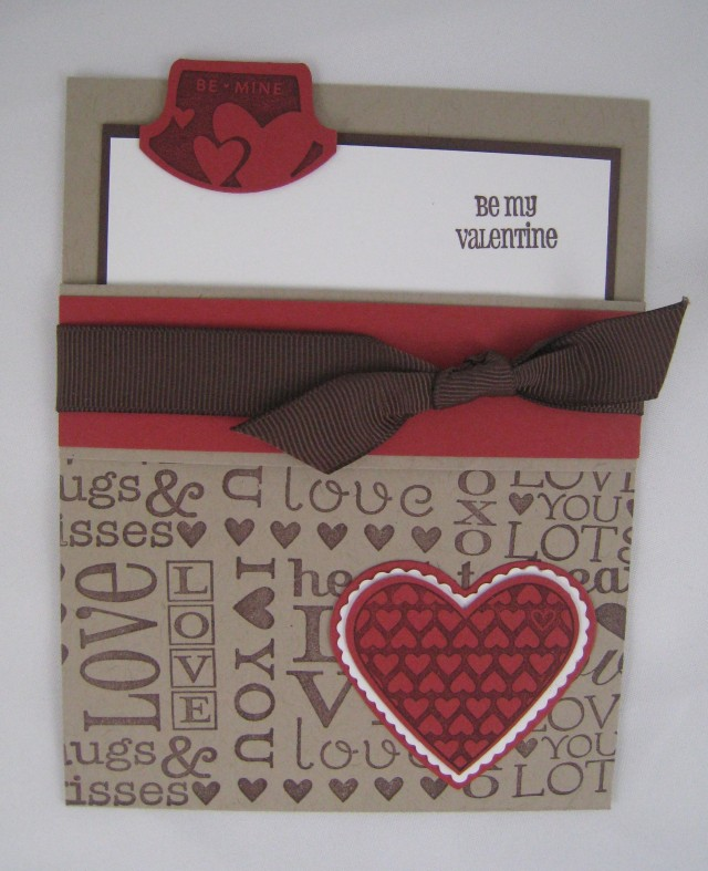 Valentine- Pocket card