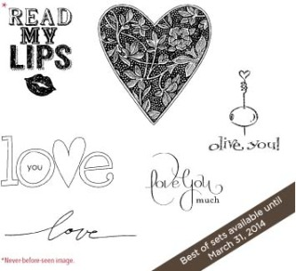 Best of Love stamps