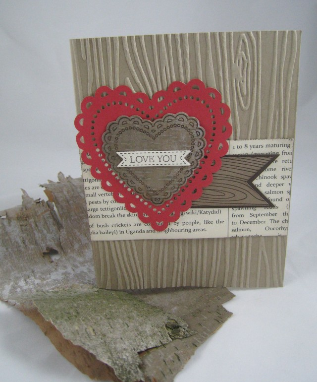 birch bark valentine