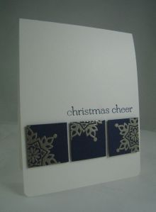 Festive Flurry embossing-simple