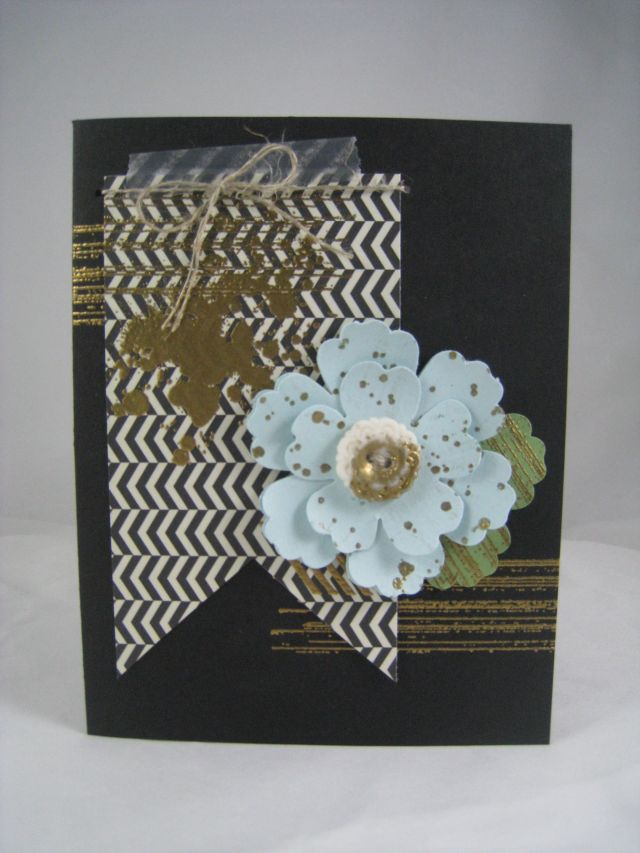 Gold Embossing Vintage Card
