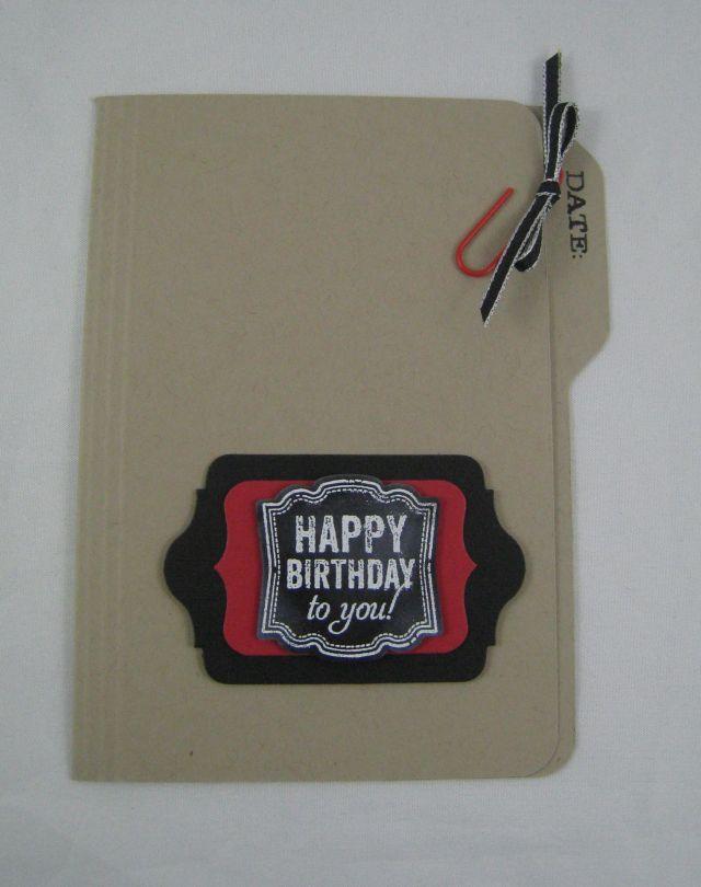 Birthday File Card