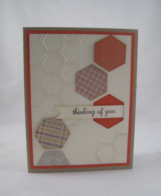 partial embossed hexagons