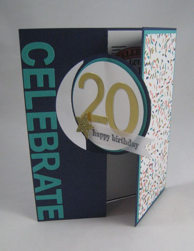 20th bday card open