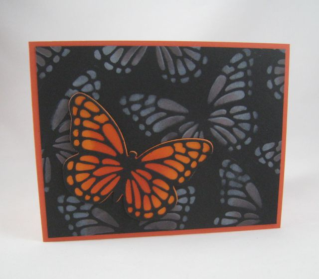 Butterfly stenciled background