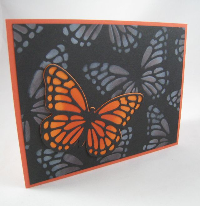 Butterfly Stenciled Background2