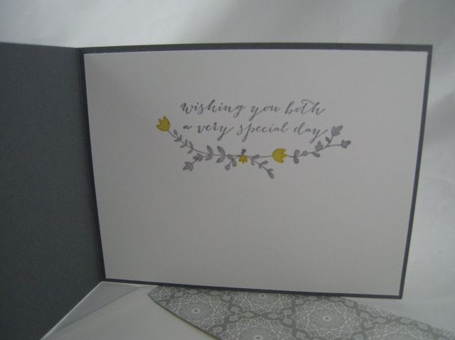 gray wedding card inside
