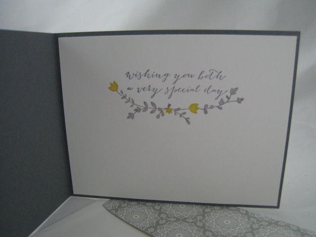 gray wedding card inside