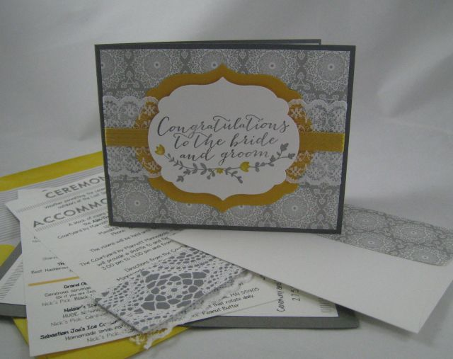 gray wedding card