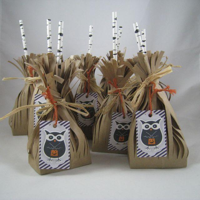 Paper Pumpkin Halloween Treat Bags