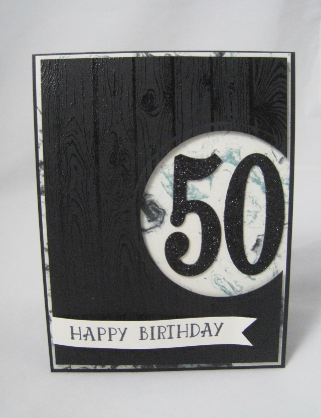 50th Birthday With Large Number Framelits Stampinu